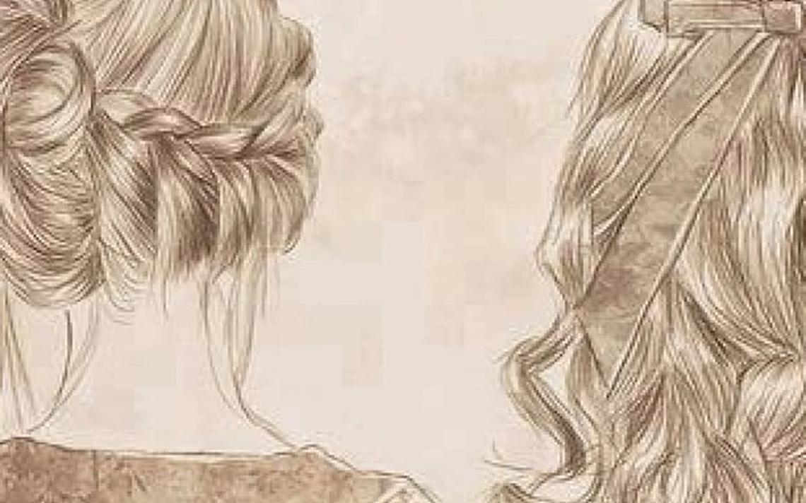 Desenho de cabelos