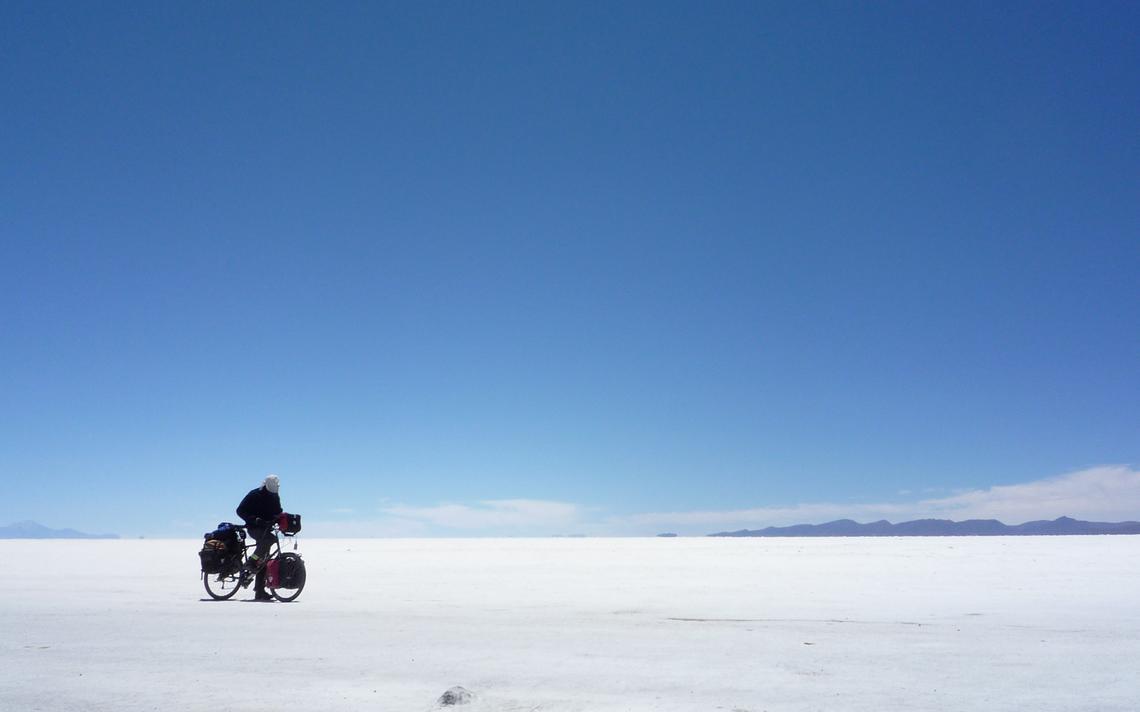 Deserto de sal em Uyuni, na Bolívia