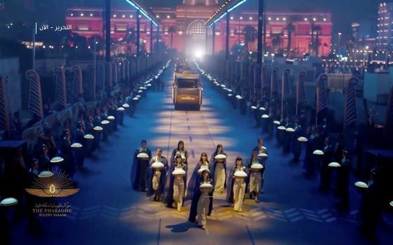 Qual a dimensão política do desfile de múmias do Egito