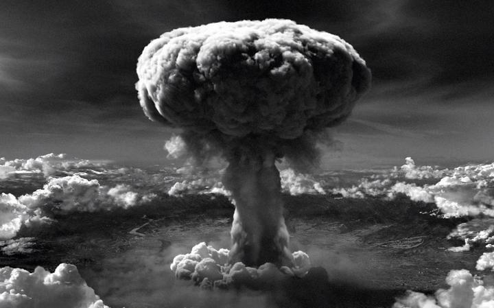 Detonação de bomba 'Little boy 'em Hiroshima, no Japão, em 1945