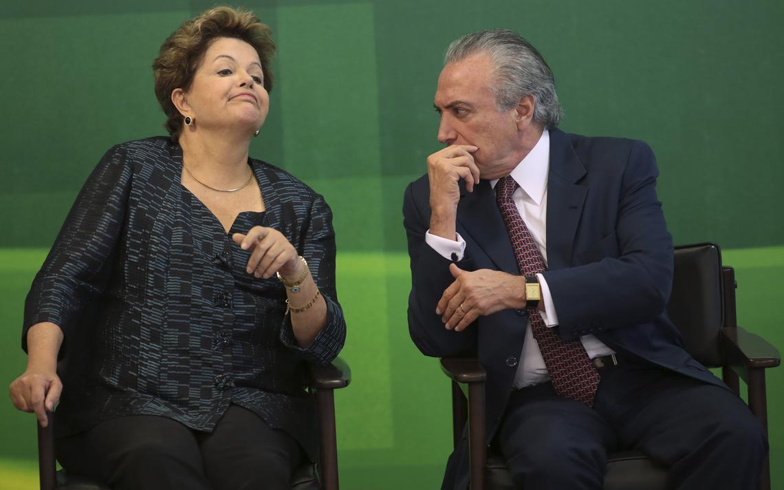Dilma e Temer em Brasília