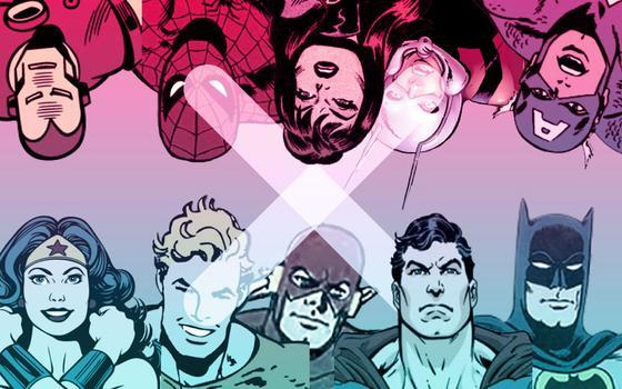 Uma batalha entre super-heróis: Marvel X DC Comics