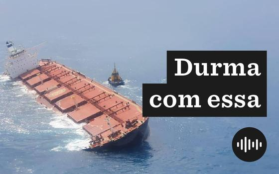 O navio com minério de ferro que encalhou na costa do Maranhão