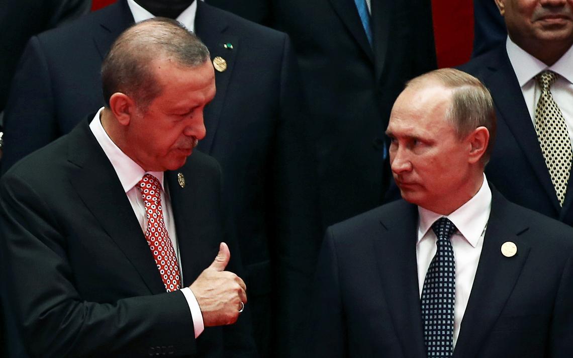 Erdogan e Putin na China