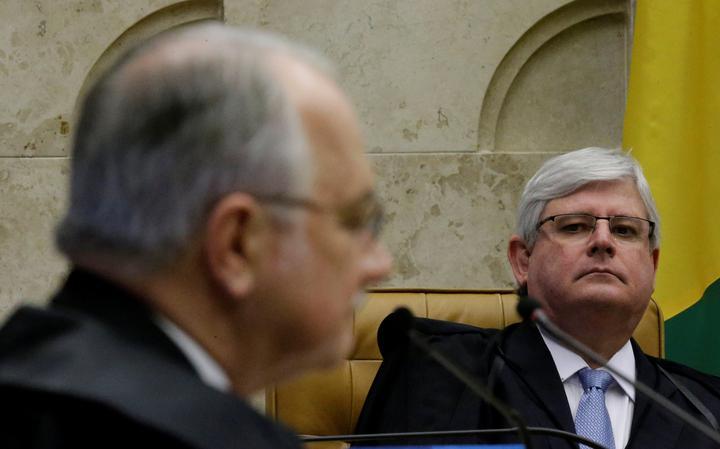Procurador-geral da República, Rodrigo Janot, e o ministro do Supremo, Edson Fachin