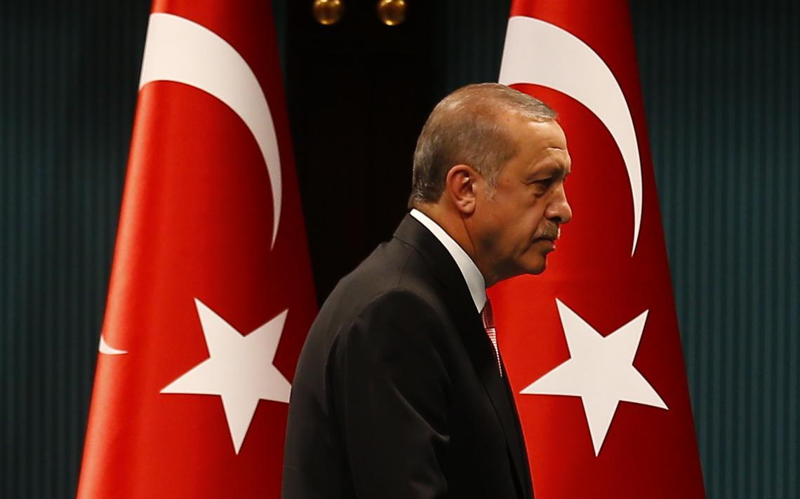 Tayyip Erdogan em entrevista