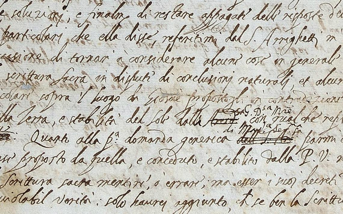 Carta de Galileu Galilei a Benedetto Castelli foi encontrada ao acaso em biblioteca da Royal Society