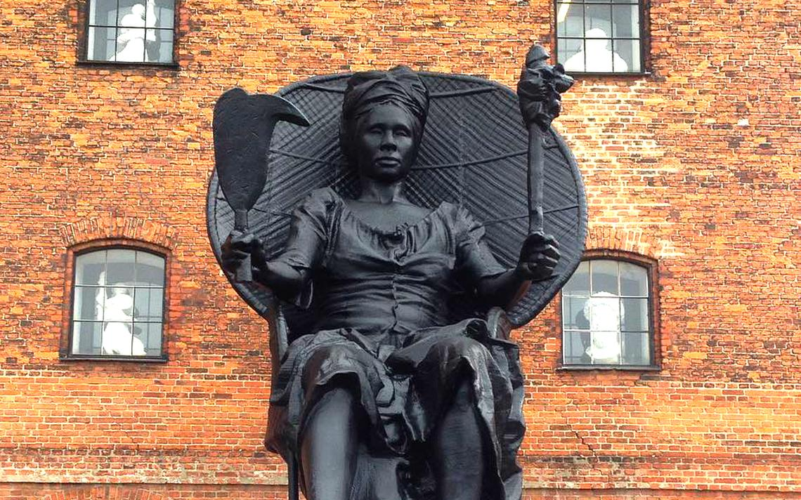 Estátua da Queen Mary Thomas, em Copenhague, Dinamarca