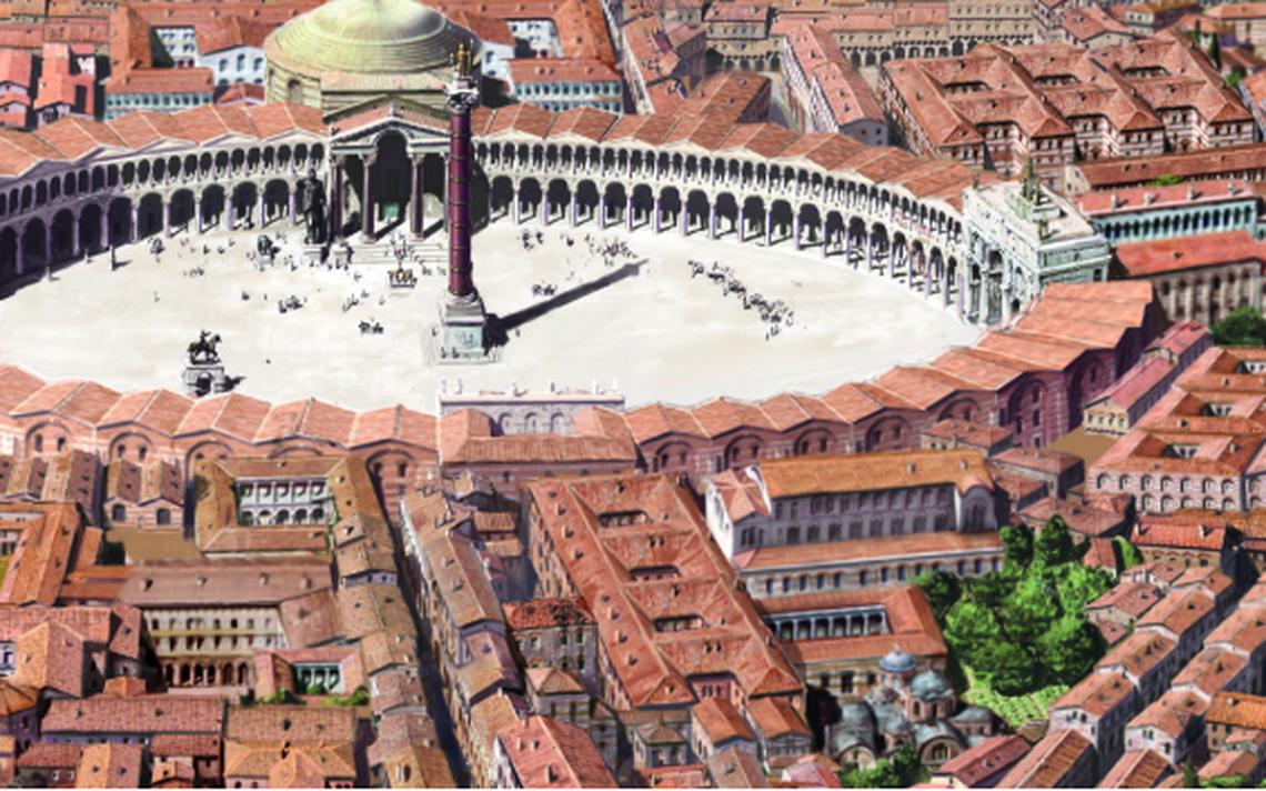 Representação do Fórum de Constantino