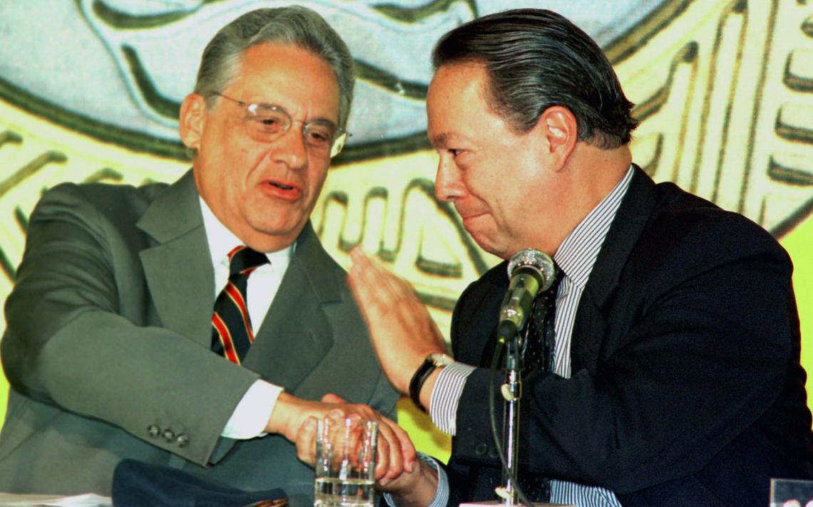 Presidente Fernando Henrique e ministro Pedro Malan