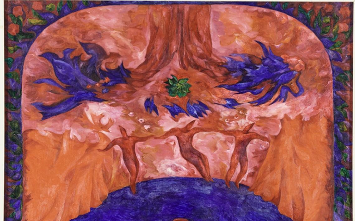 Felicidade (No teatro), pintada em 1967 por Kristiina Kaasik