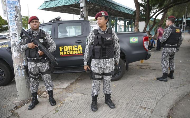 Membros da Força Nacional em Fortaleza, no início de janeiro de 2019
