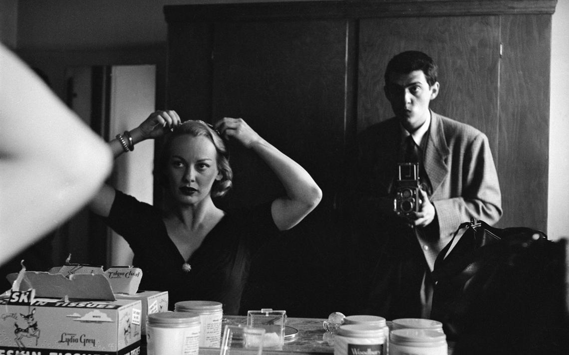 Foto de Kubrick com a atriz Faye Emerson, que foi capa da Look em 1950