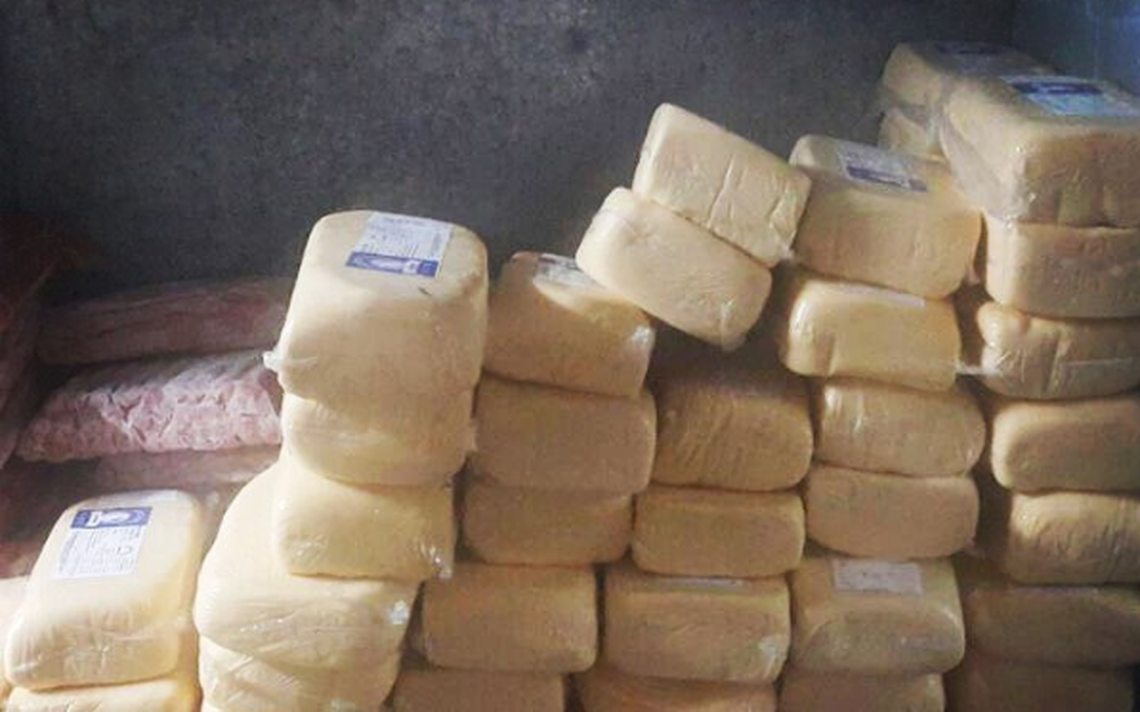Foto de queijos e linguiças apreendidas no Rock in Rio foi publicada por Roberta Sudbrack