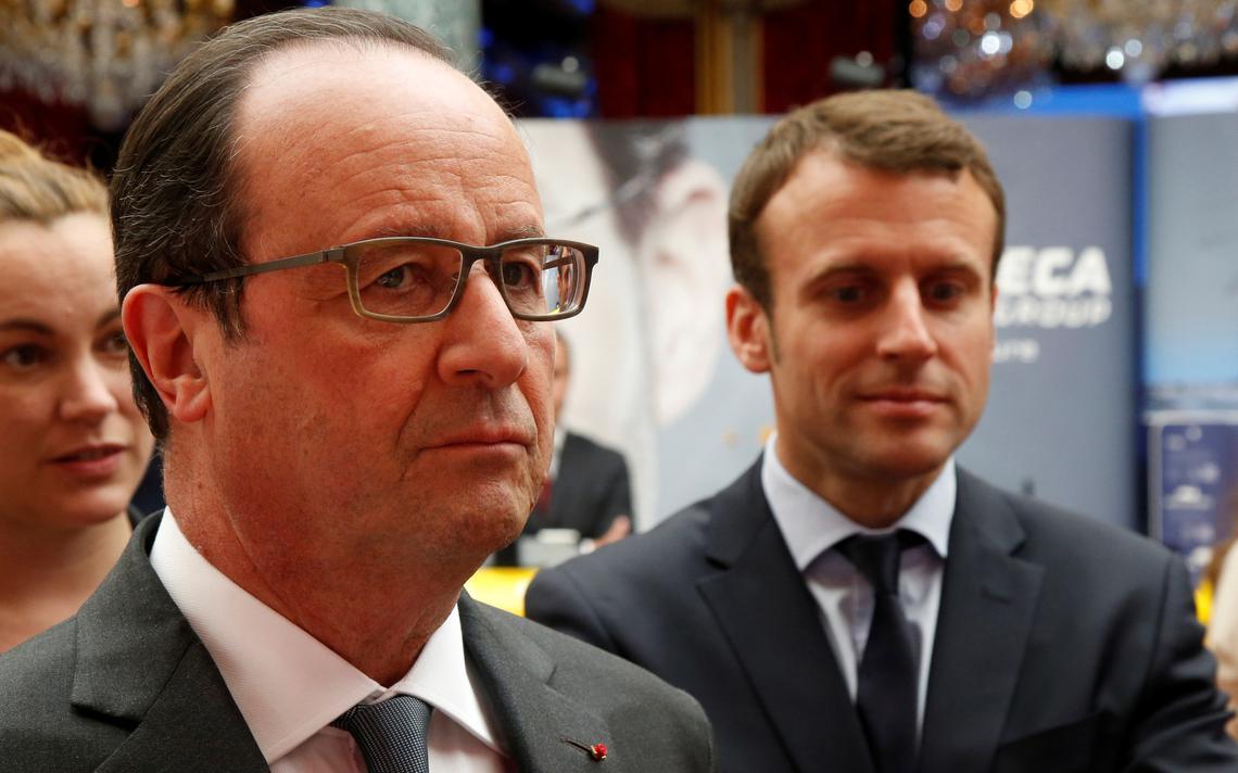 Ministro da economia e presidente da França em Paris