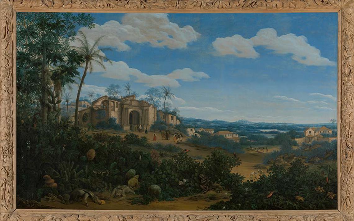 Pintura de Frans Post retratando Olinda, em 1662