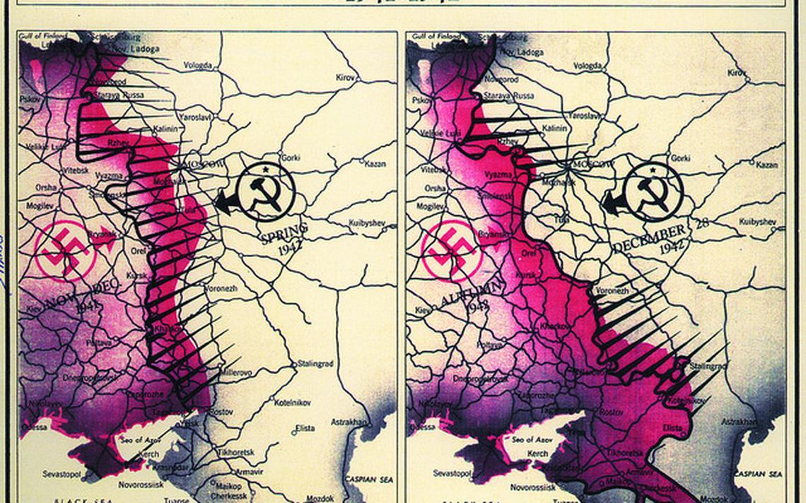 Mapas do front soviético na Segunda Guerra