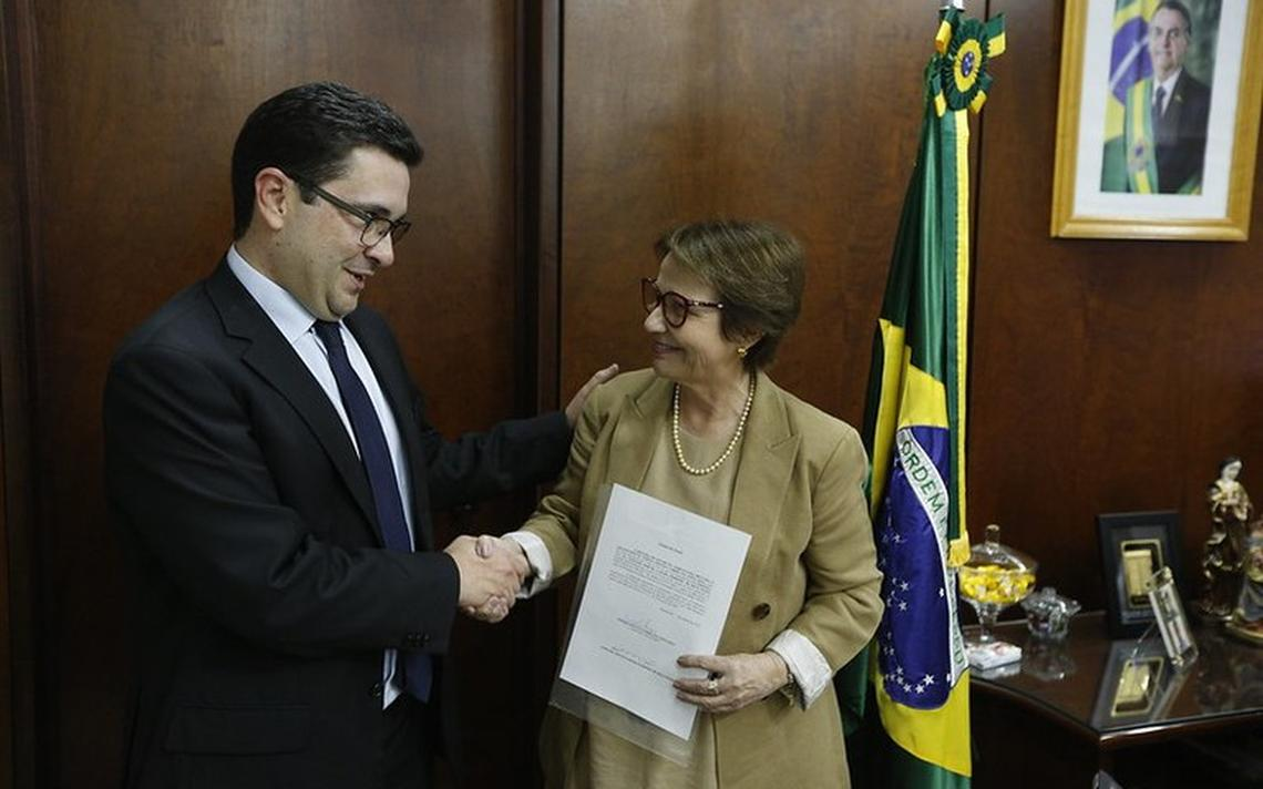 Tereza Cristina e o novo presidente do Incra Geraldo Melo Filho