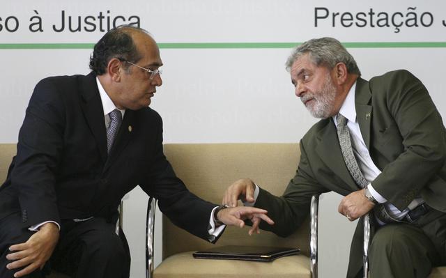 Resultado de imagem para Gilmar Mendes e Lula