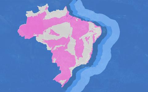 A distribuição dos blocos de exploração de petróleo até 2018