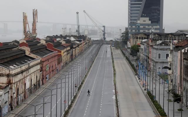 Ruas desertas no Rio