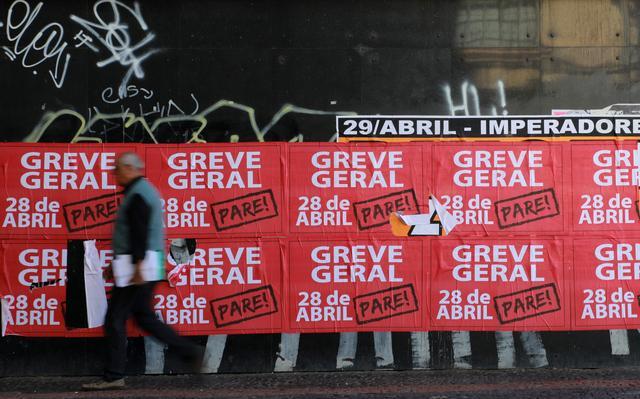 Cartazes da greve