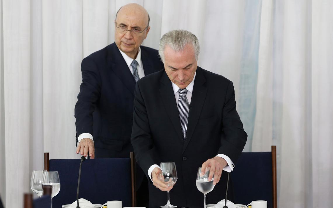 Presidente Michel Temer e o ministro da Fazenda, Henrique Meirelles