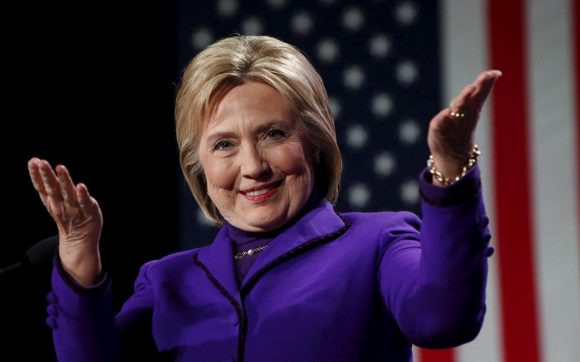 Hillary Clinton em campanha