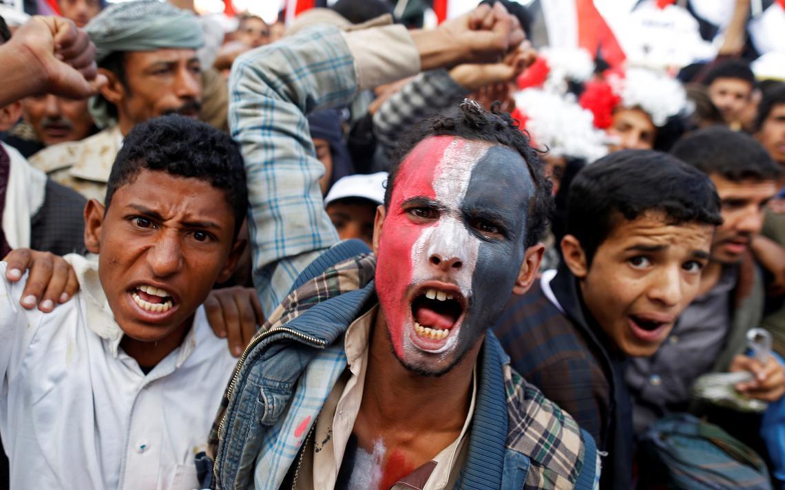Protesto houthi