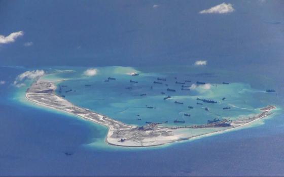 As ilhas artificiais construídas pelos chineses no Pacífico