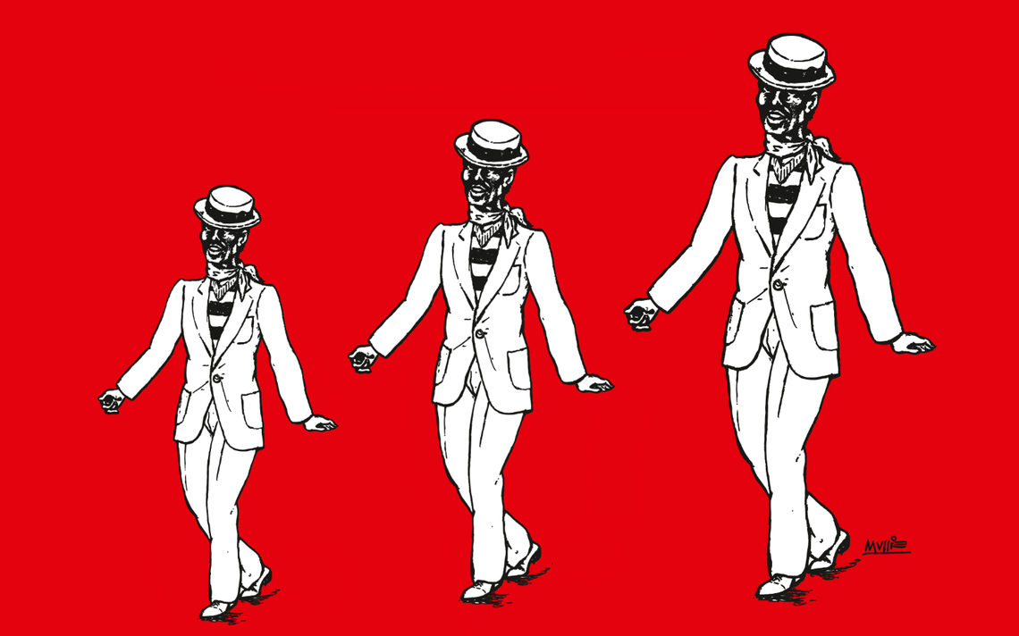 Ilustração da capa do livro 'Primeiras lições de samba', de José Ramos Tinhorão