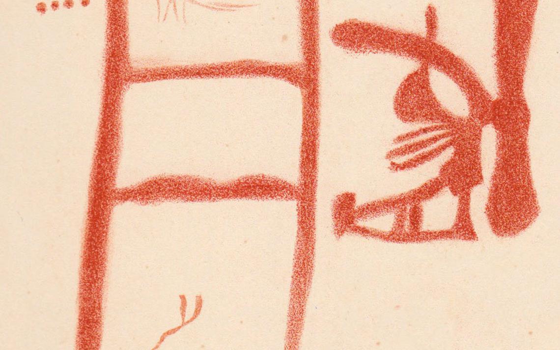 Reprodução de desenho encontrado em caverna na Espanha