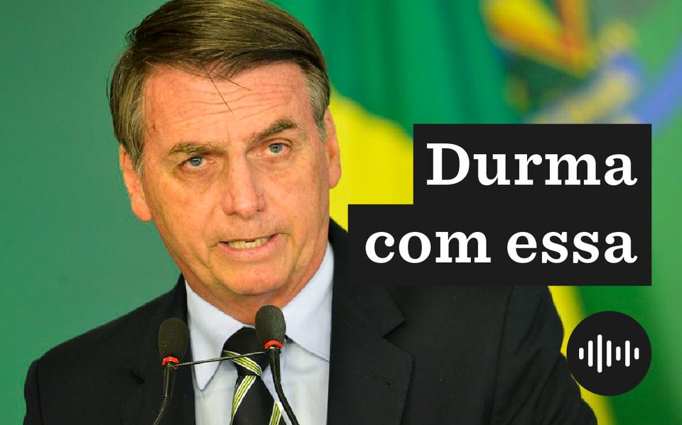 Jair Bolsonaro, durante a assinatura do decreto que amplia posse de armas
