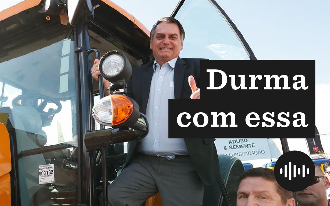 Jair Bolsonaro durante visita a estande da Agrishow 2019, em Ribeirão Preto (SP)