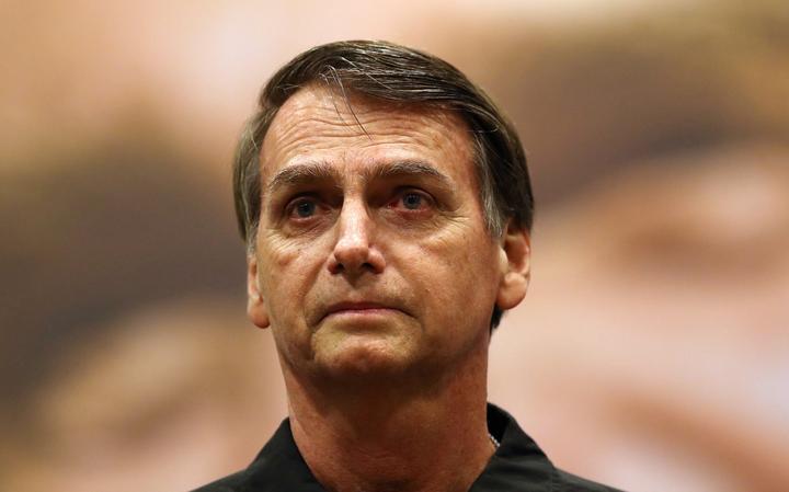 Jair Bolsonaro (PSL) fala em conferência no Rio de Janeiro
