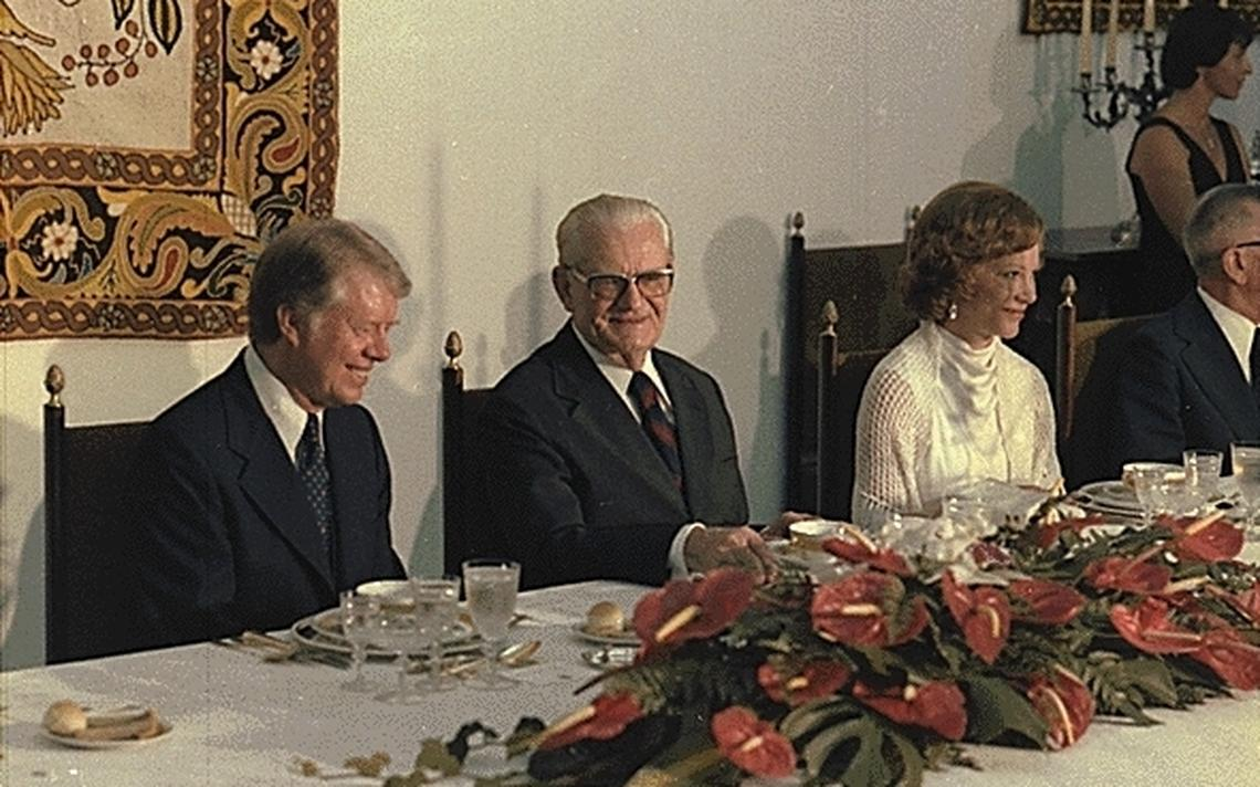 Jantar oferecido ao presidente americano Jimmy Carter pelo presidente Ernesto Geisel, em março de 1978