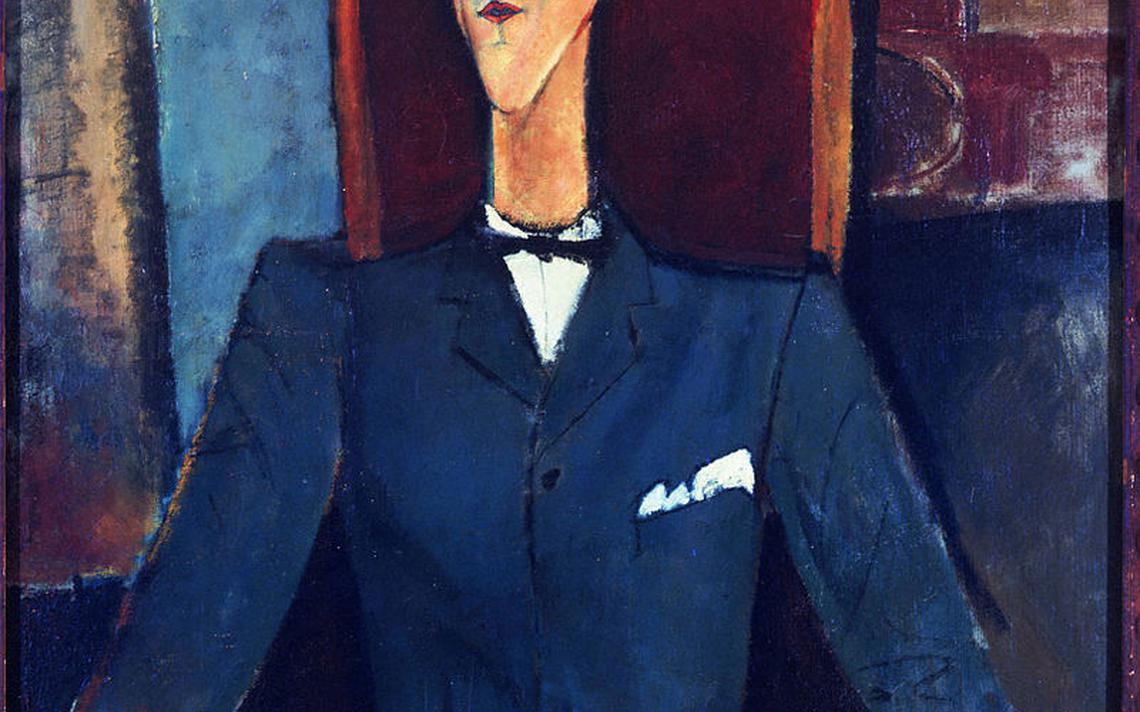 Retrato de Jean Cocteau pintado por Amedeo Modigliani