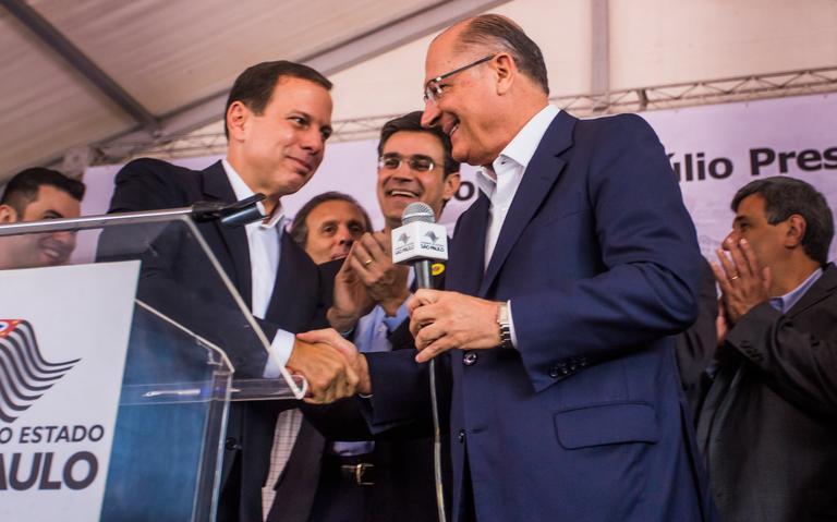 Prefeito de São Paulo, João Doria e governador de São Paulo, Geraldo Alckmin