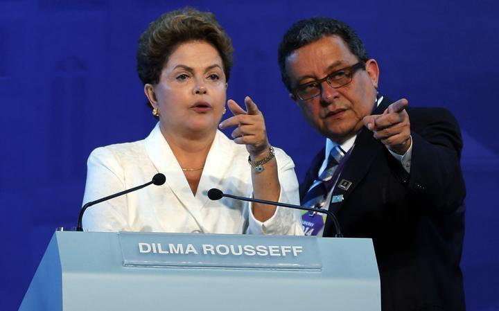 Marqueteiro João Santana e a presidente Dilma Rousseff