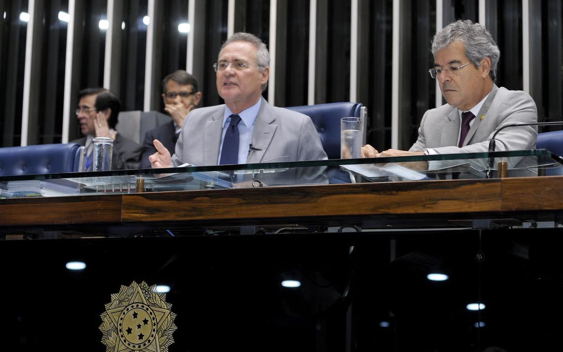 Jorge Viana e Renan Calheiros