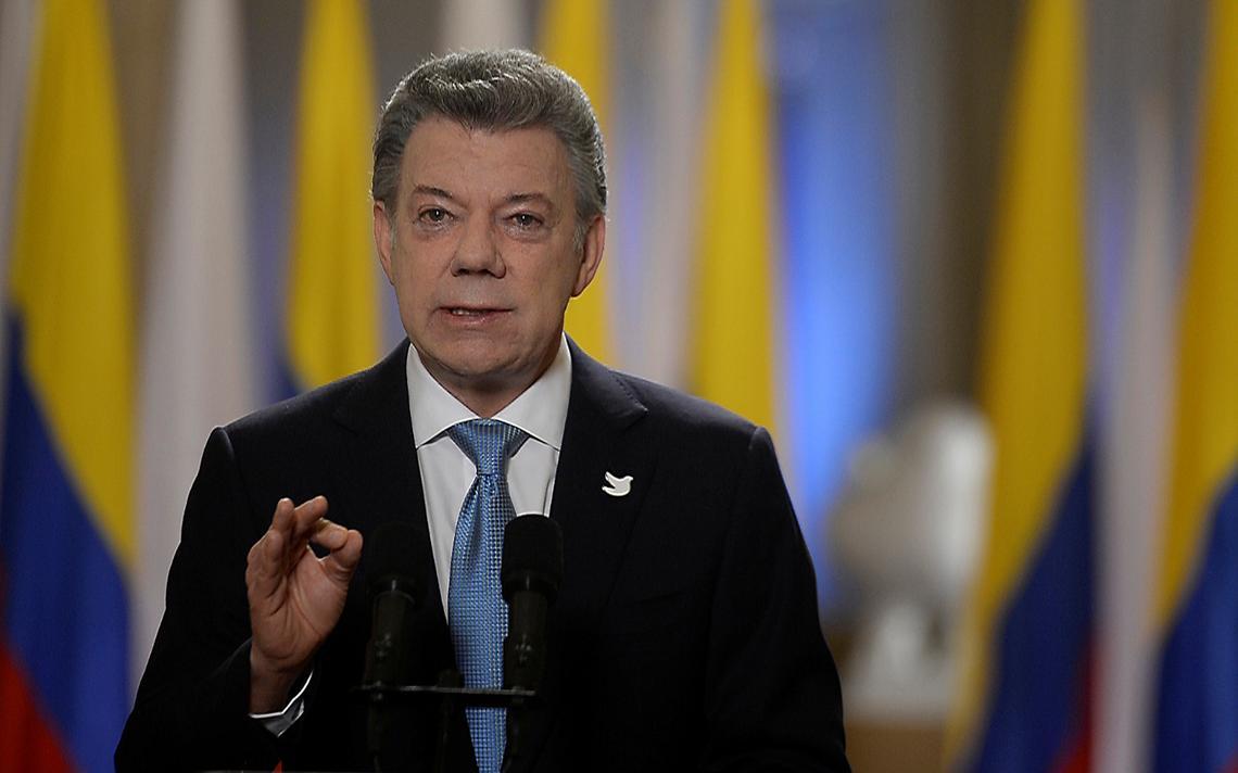 Juan Manuel Santos na TV