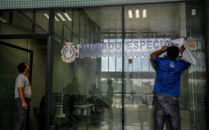 Fachada de juizado especial no aeroporto do Amazonas