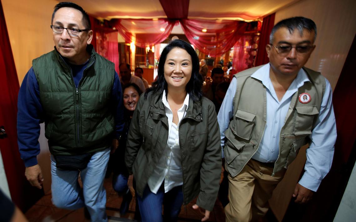 Keiko Fujimori participa de atividade de campanha eleitoral