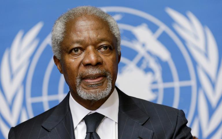 O ex-secretário-geral da ONU Kofi Annan