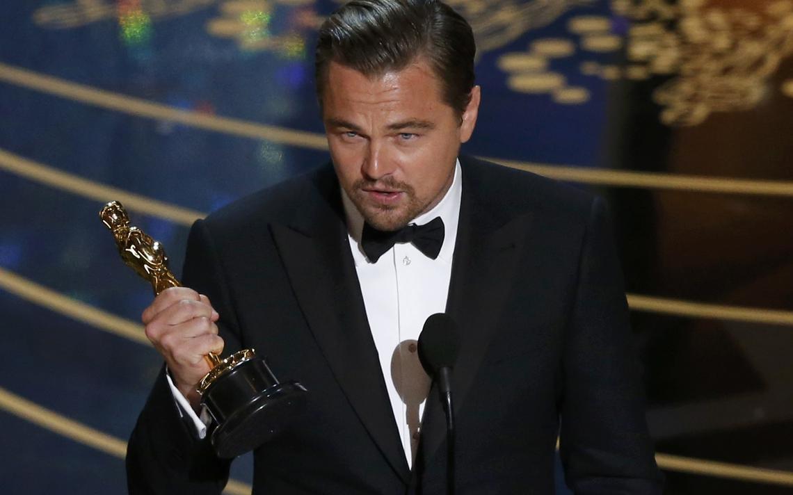DiCaprio discursa no Oscar