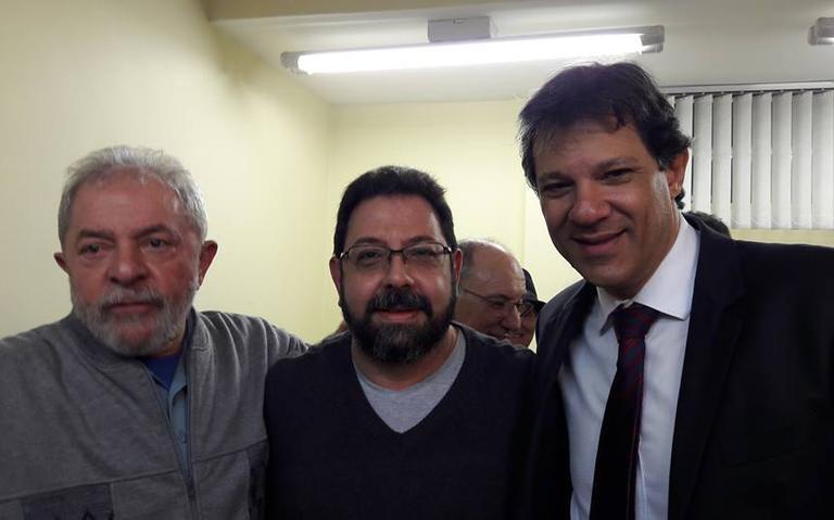 Eduardo Guimarães com Lula e Haddad