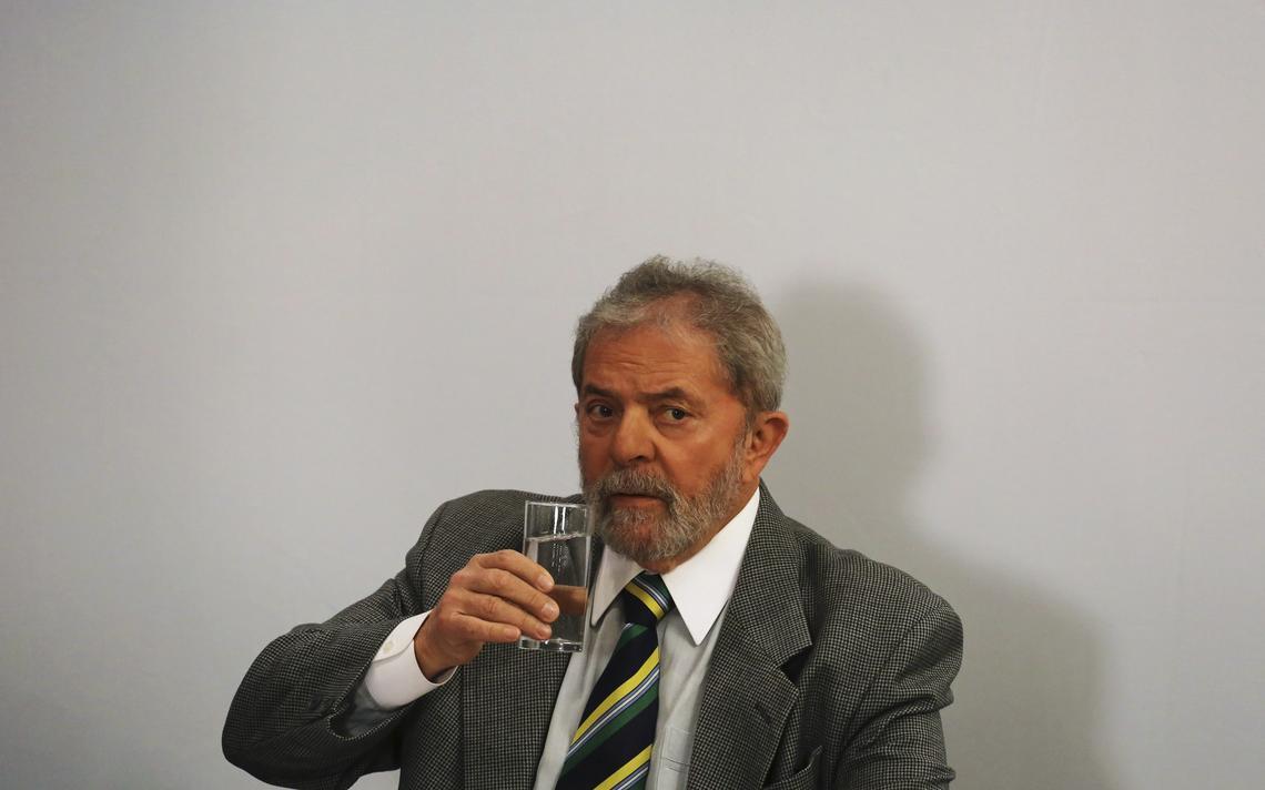 Lula em entrevista em São Paulo