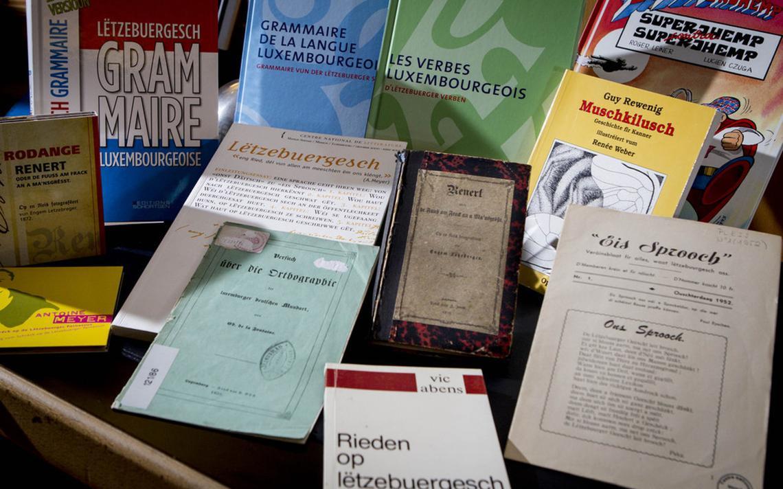 Livros de gramática do luxemburguês.
