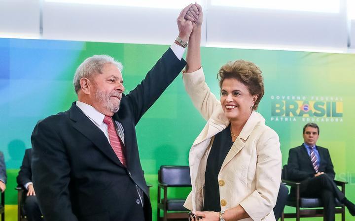 Lula e Dilma na posse
