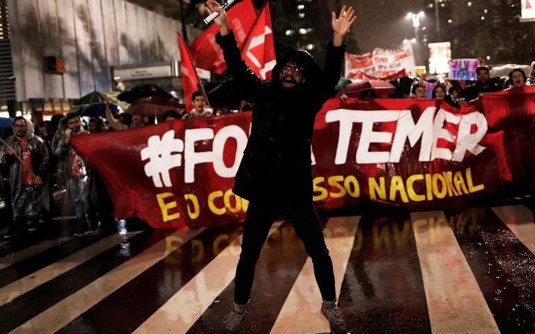 Protesto contra Temer realizado na sexta-feira (19) em São Paulo